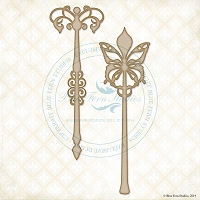 Blue Fern Studios - Chipboard - Flutter Wands
