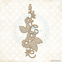 Blue Fern Studios - Chipboard - Floral Spray