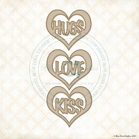 Blue Fern Studios - Chipboard - Heart Hugs