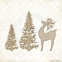 Blue Fern Studios - Chipboard - Winter Forest