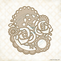 Blue Fern Studios - Chipboard - Doily Bouquet