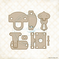 Blue Fern Studios - Chipboard - Latches