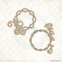 Blue Fern Studios - Chipboard - Floral Circles