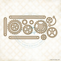 Blue Fern Studios - Chipboard - Cogs & Gears