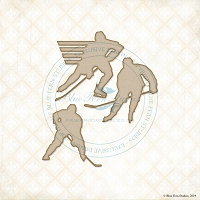 Blue Fern Studios - Chipboard - Hockey Silhouettes