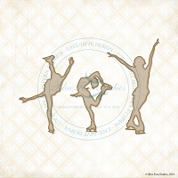 Blue Fern Studios - Chipboard - Figure Skaters