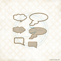Blue Fern Studios - Chipboard - Word Bubbles