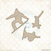 Blue Fern Studios - Chipboard - Snowboarders