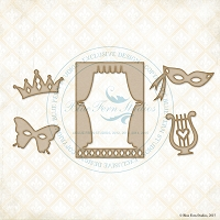 Blue Fern Studios - Chipboard - ATC Drama Set