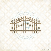Blue Fern Studios - Chipboard - Iron Railing