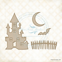 Blue Fern Studios - Chipboard - Creepy House Set