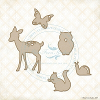 Blue Fern Studios - Chipboard - Forest Friends