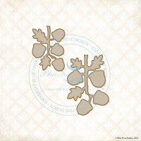 Blue Fern Studios - Chipboard - Fall Acorns