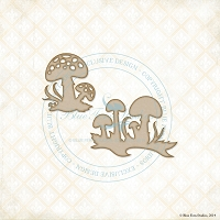 Blue Fern Studios - Chipboard - Forest Mushrooms