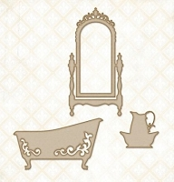 Blue Fern Studios - Chipboard - Victorian Bath Set