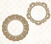 Blue Fern Studios - Chipboard - Lace Rounds