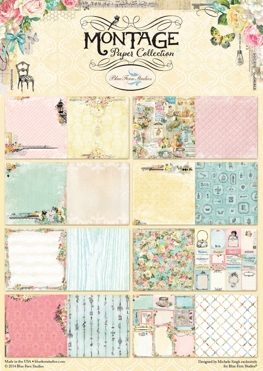 Montage Collection Cardstock