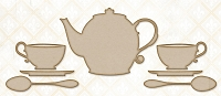 Blue Fern Studios - Chipboard - Tea with Ginger