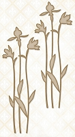 Blue Fern Studios - Chipboard - Large Spring Iris