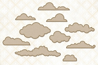 Blue Fern Studios - Chipboard - Cloudy Skies