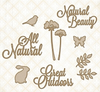 Blue Fern Studios - Chipboard - All Natural Set