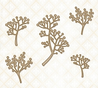 Blue Fern Studios - Chipboard - Berry Stems