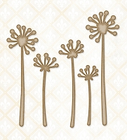 Blue Fern Studios - Chipboard - Pretty Weeds