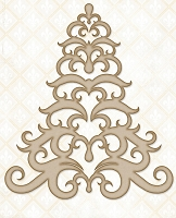 Blue Fern Studios - Chipboard - Baroque Tree