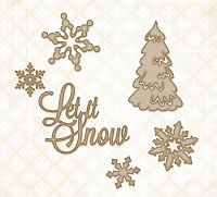 Blue Fern Studios - Chipboard - Let It Snow
