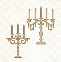 Blue Fern Studios - Chipboard - Candelabra Set