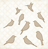Blue Fern Studios - Chipboard - Little Birds Set