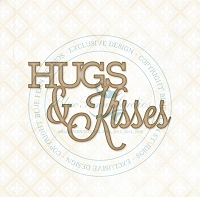 Blue Fern Studios - Chipboard - Hugs & Kisses