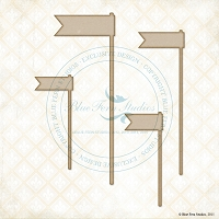 Blue Fern Studios - Chipboard - Banner Flags