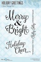 Blue Fern Studios - Clear Stamp - Holiday Greetings