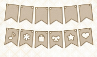 Blue Fern Studios - Chipboard - Party Flags