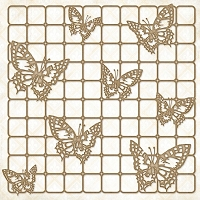 Blue Fern Studios - Chipboard - Butterfly Grid (11.5