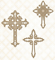 Blue Fern Studios - Chipboard - Ornate Crosses