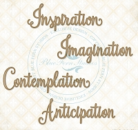 Blue Fern Studios - Chipboard - Serendipity Words 1