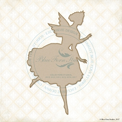 Blue Fern Studios - Chipboard - Garden Fairy