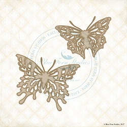 Blue Fern Studios - Chipboard - Vintage Butterflies