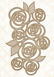 Blue Fern Studios - Chipboard - Lovely Roses
