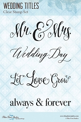 Blue Fern Studios - Clear Stamp - Wedding Titles