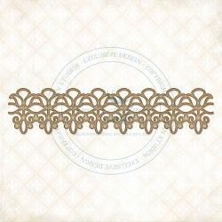 Blue Fern Studios - Chipboard - Dangled Lace