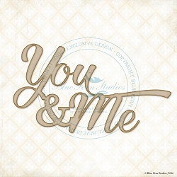 Blue Fern Studios - Chipboard - You & Me