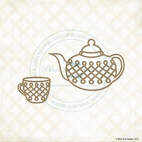 Blue Fern Studios - Chipboard - Tea Set