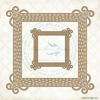 Blue Fern Studios - Chipboard - Square Frames