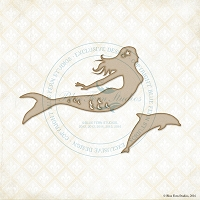Blue Fern Studios - Chipboard - Ocean Mermaid