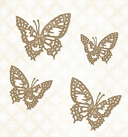 Blue Fern Studios - Chipboard - Tattered Butterflies