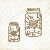 Blue Fern Studios - Chipboard - Floral Jars
