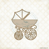Blue Fern Studios - Chipboard - Baby Pram